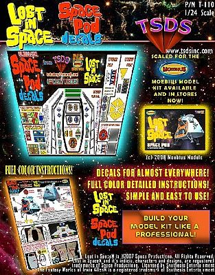 TSDS LiS Space Pod Decal Set for MOE -- Science Fiction Plastic Model Decal -- 1/24 Scale -- #110