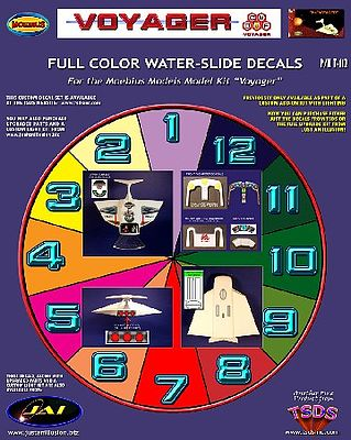 TSDS The Voyager Decal Set for MOE -- Science Fiction Plastic Model Decal -- 1/72 Scale -- #112
