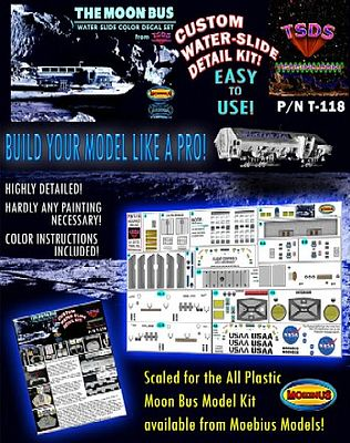 TSDS Moon Bus Decal Set for MOE -- Science Fiction Plastic Model Decal -- 1/50 Scale -- #118