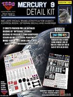 TSDS Mercury 9 Rocket Ship Decal Set for PGH Science Fiction Model Decal 1/350 Scale #123