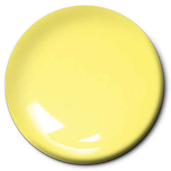 Testors Light Yellow 1/4 oz -- Hobby and Model Enamel Paint -- #1112