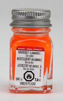 Testors Orange Fluorescent 1/4 oz Hobby and Model Enamel Paint #1173tt