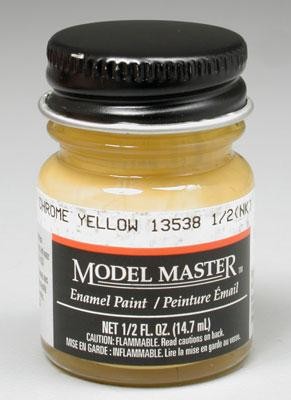 Testors Model Master Chrome Yellow 13538 1/2 oz -- Hobby and Model Enamel Paint -- #1707