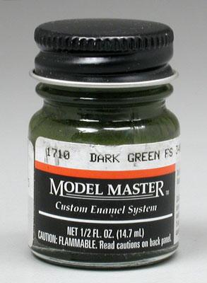 Testors Model Master Dark Green 34079 1/2 oz -- Hobby and Model Enamel Paint -- #1710