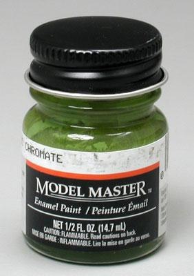 Testors Model Master Green Zinc Chromate 1/2 oz -- Hobby and Model Enamel Paint -- #1734