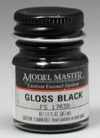 Testors Model Master Gloss Black 17038 1/2 oz Hobby and Model Enamel Paint #1747