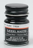 Testors Model Master Flat Black 37038 1/2 oz Hobby and Model Enamel Paint #1749