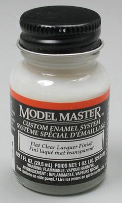 Testors (bulk of 6) Model Master Flat Clear 1 oz -- Hobby and Model Lacquer Paint -- #2015