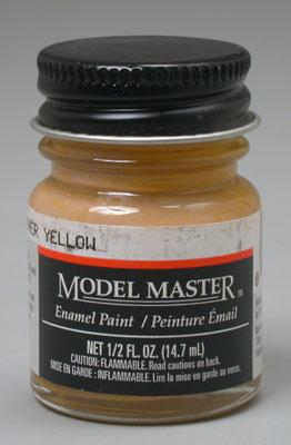 Testors Model Master RAF Trainer Yellow 1/2 oz -- Hobby and Model Enamel Paint -- #2063