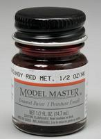 Testors Model Master Burgundy Red Metallic 1/2 oz Hobby and Model Enamel Paint #2705