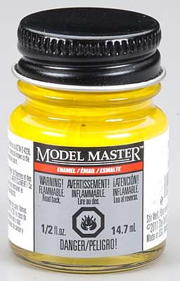 Testors Model Master Dark Yellow Gloss 1/2 oz -- Hobby and Model Enamel Paint -- #2754