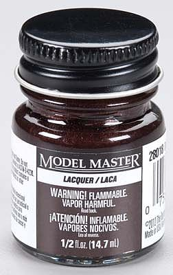 Testors Model Master Dark Brown Lacquer 1/2 oz -- Hobby and Model Lacquer Paint -- #28018
