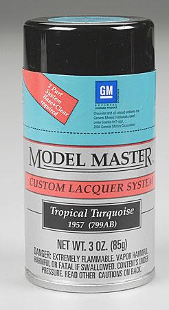 Testors Model Master Spray Tropical Turquoise 3 oz -- Hobby and Model Lacquer Paint -- #28114