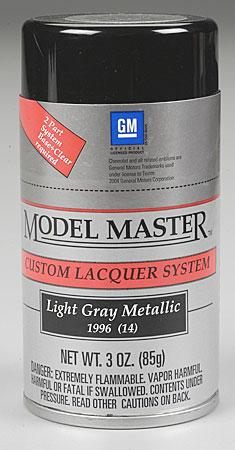 Testors Model Master Spray Light Gray Metallic 3 oz -- Hobby and Model Lacquer Paint -- #28126