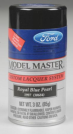 Testors Model Master Spray Royal Blue Pearl 3 oz -- Hobby and Model Lacquer Paint -- #28130