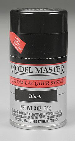 Testors Model Master Spray Black 3 oz -- Hobby and Model Lacquer Paint -- #28133