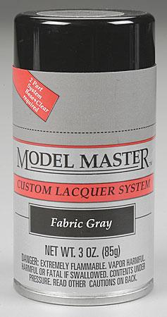 Testors Model Master Spray Fabric Gray 3 oz -- Hobby and Model Lacquer Paint -- #28135