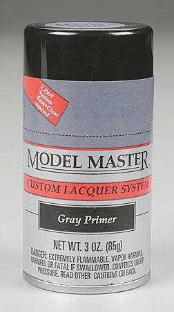 Testors Model Master Spray Gray Primer 3 oz -- Hobby and Model Lacquer Paint -- #28137