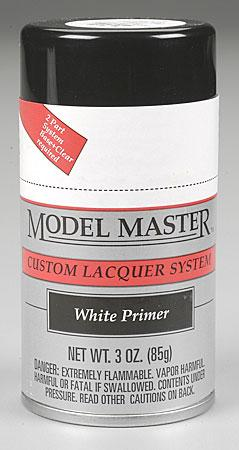 Testors Model Master Spray White Primer 3 oz -- Hobby and Model Lacquer Paint -- #28138