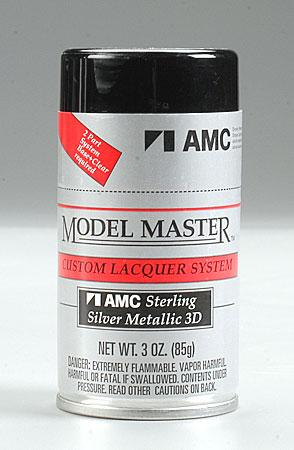 Testors (bulk of 3) Model Master Spray Sterling Silver Metallic 3 oz -- Hobby and Model Lacquer Paint -- #28141