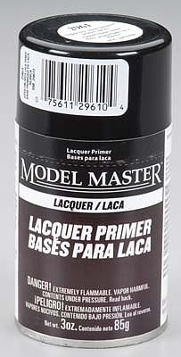 Testors Model Master Spray Super Fine White Lacquer Primer -- Hobby and Model Lacquer Paint -- #2961