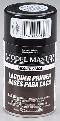 Testors Model Master Spray Super Fine Gray Lacquer Primer -- Hobby and Model Lacquer Paint -- #2982
