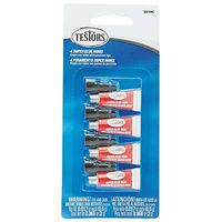 Testors Single Use Super Glue Set (4) Plastic Model Cement #3519c