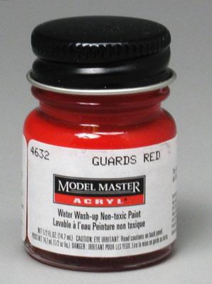 Testors Model Master Guards Red GP00273 1/2 oz -- Hobby and Model Acrylic Paint -- #4632