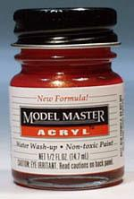 Testors Model Master Stop Light Red GP00283 1/2 oz -- Hobby and Model Acrylic Paint -- #4633