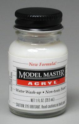 Testors Model Master Flat Clear Acrylic FM02015 1 oz -- Hobby and Model Acrylic Paint -- #4636