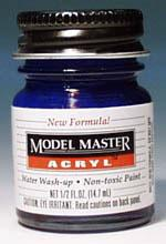 Testors Model Master Clear Blue GP00456 1/2 oz -- Hobby and Model Acrylic Paint -- #4658