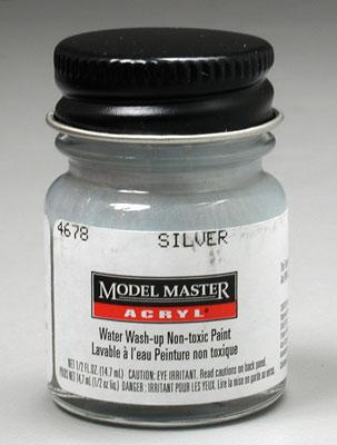 Testors Model Master Silver GP00835 1/2 oz -- Hobby and Model Acrylic Paint -- #4678