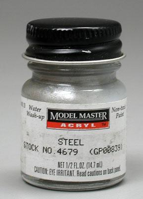 Testors Model Master Steel GP00839 1/2 oz -- Hobby and Model Acrylic Paint -- #4679