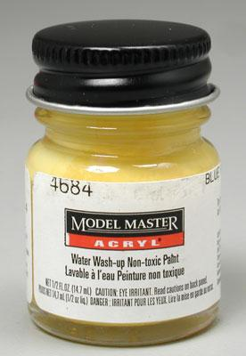 Testors Model Master Blue Angel Yellow FS13655 1/2 oz -- Hobby and Model Acrylic Paint -- #4684
