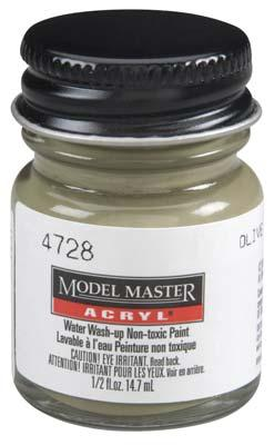 Testors Model Master Olive Drab FS34087 1/2 oz -- Hobby and Model Acrylic Paint -- #4728