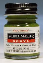Testors (bulk of 6) Model Master Interior Green FS34151 1/2 oz -- Hobby and Model Acrylic Paint -- #4736