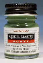Testors Model Master Pale Green FS34227 1/2 oz -- Hobby and Model Acrylic Paint -- #4739