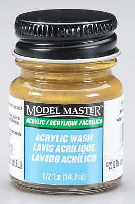 Testors Model Master Brown Oak Detail Wash 1/2 oz -- Hobby and Model Acrylic Paint -- #4872