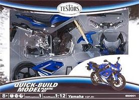 Testors Yamaha YZF-R1 Snap Tite Plastic Model Car with Metal Body 1/12 Scale #650001