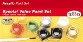 Testors Acrylic Value Finishing Kit Hobby and Model Paint Set #9196