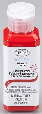 Testors Aztek Airbrushable Opaque Red Acrylic 2 oz -- Hobby and Model Acrylic Paint -- #9446
