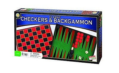 Traditional Games Classic Checkers & Backgammon Games (Endless)