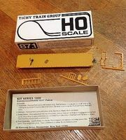 Tichy-Train Union Pacific 53 6 Commonwealth/GSC Flatcar HO Scale Model Train Freight Car #1004