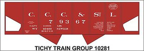 Tichy-Train HO CCC&StL USRA Hopper Decal