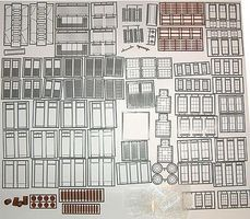 Tichy-Train Wind/Door/Part Assortment O Scale Model Railroad Building Accessory #2050