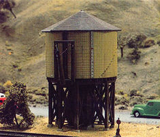 Tichy-Train Wood Water Tanks pkg(2) In One Box N Scale Model Railroad Building #26002