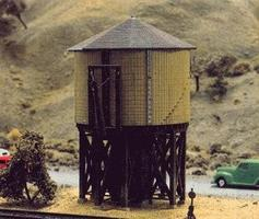 Tichy-Train Wood Water Tank Kit N Scale Model Railroad Building #2600