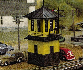 Tichy Train Group Wooden Signal Tower Kit -- N Scale Model Railroad Building -- #2601