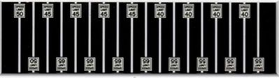 Tichy Train Group Speed Limit Signs (3ea of 40, 45, 50, 55, 65 MPH) -- N Scale Model Railroad Roadway Sign -- #2607