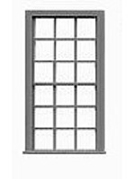 Tichy-Train 9/9 Double Hung Window (12) HO Scale Model Railroad Building Accessory #8054